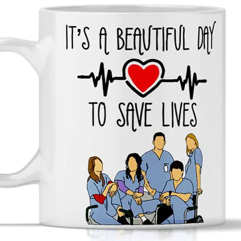 """Tazza Gadget Grey's Anatomy """"It's a beautiful day to save lives"""""""