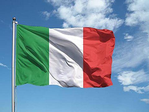 Bandiera ITALIA 50x70 cm in poliestere con doppia piega perimetrale