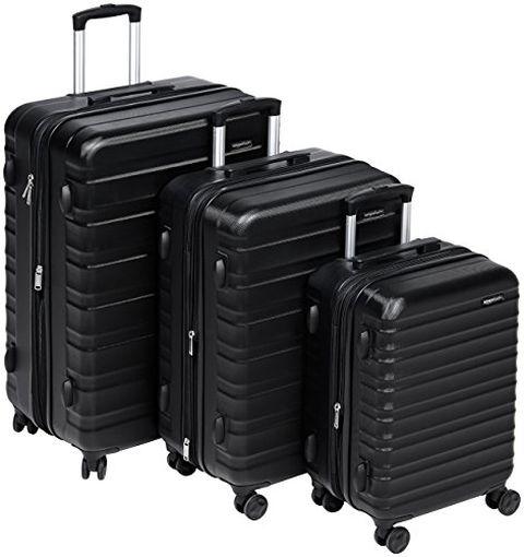 Amazon Basics - Set di trolley rigidi con rotelle girevoli
