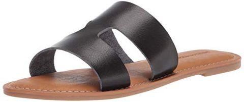 Amazon Essentials H Band Flat Sandal, Nero