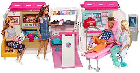 Barbie Ambulanza (Trasformabile in Clinica Mobile con 3 Stanze)