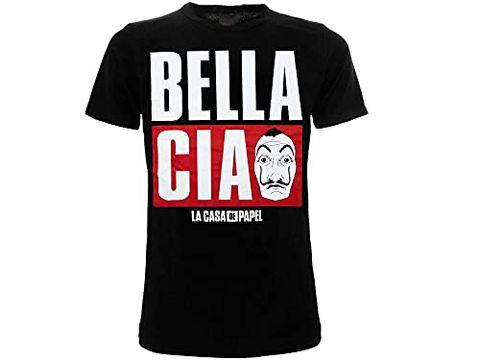 La Casa di Carta T-Shirt Nera Bella Ciao - Prodotto Ufficiale