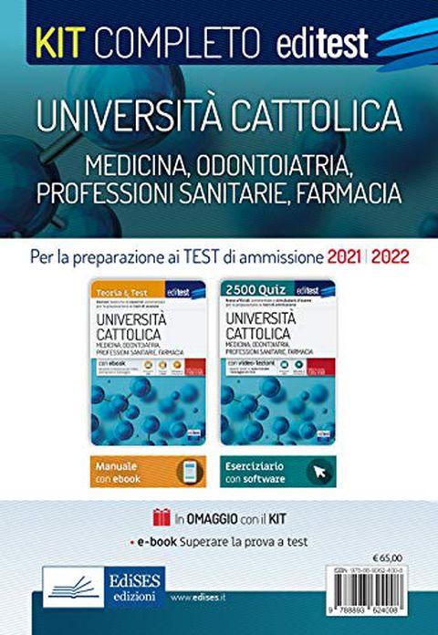 Università Cattolica - Test ammissione Medicina, Odontoiatria, Professioni sanitarie e Farmacia