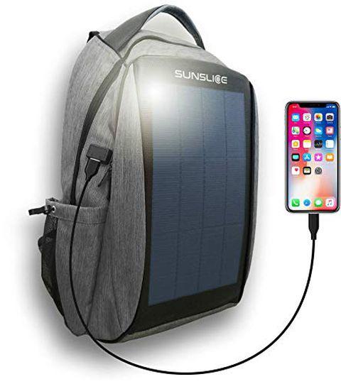Zaino con pannello solare per computer