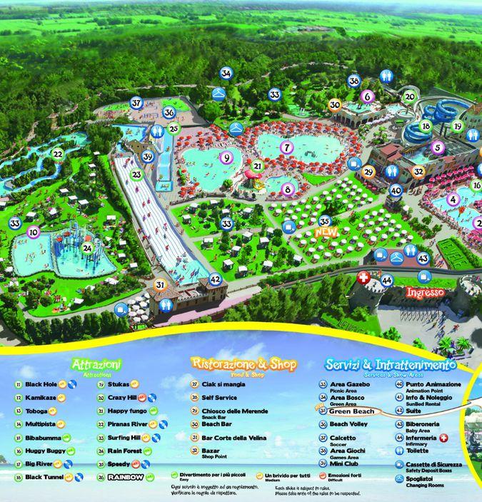 Parco Acquatico Le Vele: mappa