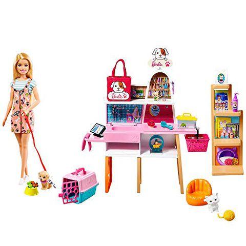 Barbie Playset - Negozio degli Animali con Bambola Bionda